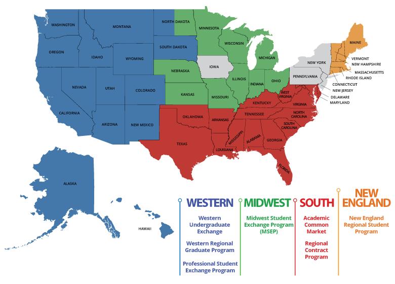 Regional Financial Aid Map